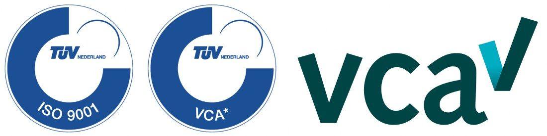 ISO 9001 en VCA * gecertificeerd